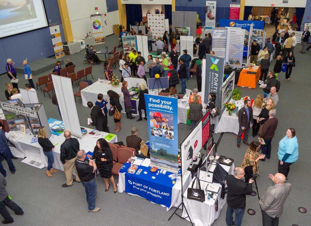 business expo floor